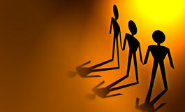 έγγραφο ατόμων αλυσίδων στοκ φωτογραφία με δικαίωμα ελεύθερης χρήσης