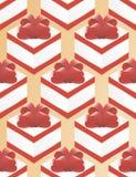 Έγγραφο για το κόκκινο τόξο κιβωτίων δώρων συσκευασίας απεικόνιση αποθεμάτων
