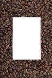 Έγγραφο για το σωρό των φασολιών καφέ Στοκ εικόνες με δικαίωμα ελεύθερης χρήσης