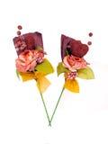 έγγραφο δύο λουλουδιών τέχνης Στοκ Εικόνες