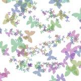 έγγραφο δώρων πεταλούδων τέχνης Στοκ εικόνα με δικαίωμα ελεύθερης χρήσης