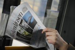 Έγγραφο ειδήσεων avis Danishweekend _weekly στοκ εικόνα
