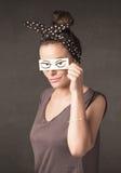 Έγγραφο εκμετάλλευσης νεαρών ατόμων με το σχέδιο ματιών Στοκ φωτογραφία με δικαίωμα ελεύθερης χρήσης