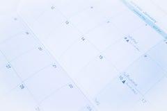 Έγγραφο ημερολογιακών προτύπων διοργανωτών επάνω στενό Στοκ φωτογραφία με δικαίωμα ελεύθερης χρήσης