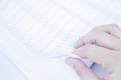Έγγραφο ημερολογιακών προτύπων διοργανωτών επάνω στενό Στοκ εικόνες με δικαίωμα ελεύθερης χρήσης