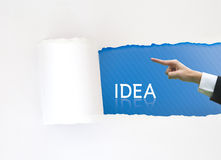 έγγραφο ιδέας επιχειρησιακής έννοιας που δείχνει την άσπρη λέξη Στοκ Φωτογραφίες