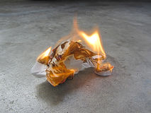 Έγγραφο ιστού πυρκαγιάς Στοκ Εικόνα