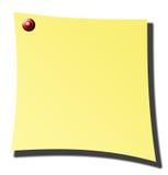 έγγραφο κίτρινο Στοκ Εικόνα