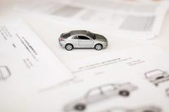 Έγγραφο και μορφή μιας συμφωνίας πωλήσεων οχημάτων Στοκ Φωτογραφίες