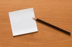 Έγγραφο και μολύβι. Στοκ Φωτογραφία