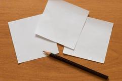 Έγγραφο και μολύβι. Στοκ Εικόνα