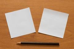 Έγγραφο και μολύβι. Στοκ εικόνα με δικαίωμα ελεύθερης χρήσης
