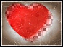 έγγραφο καρδιών αναδρομι& διανυσματική απεικόνιση