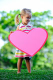 έγγραφο καρδιών παιδιών Στοκ Εικόνες