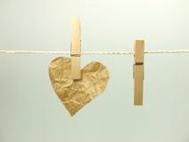 έγγραφο καρδιών Στοκ Εικόνες