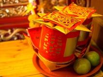 Έγγραφο κινέζικων ειδώλων Στοκ Φωτογραφίες