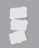 Έγγραφο με την κολλώδη ταινία διανυσματική απεικόνιση