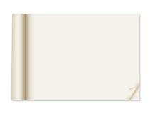 Έγγραφο με την μπούκλα γωνιών Στοκ Εικόνες