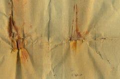 Έγγραφο με τους λεκέδες σκουριάς Στοκ Εικόνα