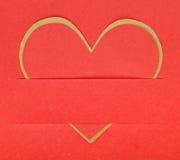 Έγγραφο μορφής καρδιών Στοκ Εικόνες