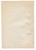 Έγγραφο που απομονώνεται στο λευκό στοκ εικόνες με δικαίωμα ελεύθερης χρήσης