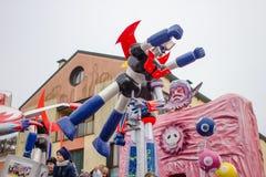 Έγγραφο ρομπότ mache στο καρναβάλι Στοκ Εικόνες
