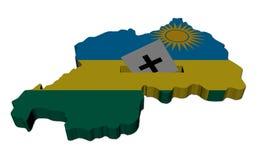 έγγραφο Ρουάντα χαρτών εκ&la διανυσματική απεικόνιση