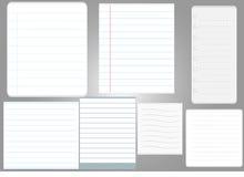 Έγγραφο 7 σελίδων σημειώσεων ύφος διανυσματική απεικόνιση