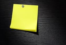 έγγραφο σημειώσεων κίτρινο Στοκ Φωτογραφίες