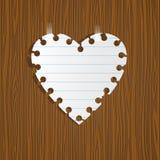 έγγραφο σημειώσεων καρδιών διανυσματική απεικόνιση