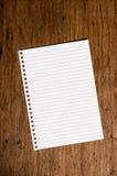 έγγραφο σημειώσεων Στοκ Εικόνα