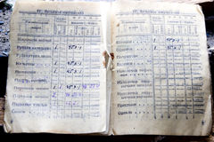 Έγγραφο στρατιωτών των χρόνων Δεύτερου Παγκόσμιου Πολέμου Στοκ φωτογραφίες με δικαίωμα ελεύθερης χρήσης