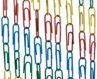 έγγραφο συνδετήρων αλυσίδων Στοκ εικόνες με δικαίωμα ελεύθερης χρήσης