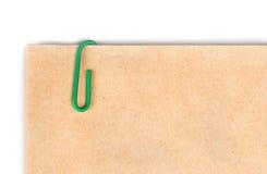 έγγραφο συνδετήρων Στοκ εικόνες με δικαίωμα ελεύθερης χρήσης