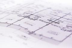 Έγγραφο σχεδιαγραμμάτων διαγραμμάτων εφαρμοσμένης μηχανικής που συντάσσει το πρόγραμμα Στοκ εικόνα με δικαίωμα ελεύθερης χρήσης