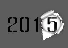 Έγγραφο 2014-2015 τρυπών δακρυ'ων Στοκ Φωτογραφίες