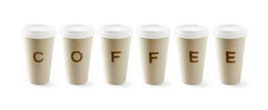 έγγραφο φλυτζανιών καφέ στοκ φωτογραφίες