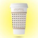 έγγραφο φλυτζανιών καφέ απεικόνιση αποθεμάτων