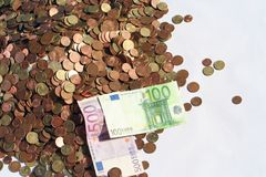 έγγραφο χρημάτων νομισμάτων Στοκ Φωτογραφίες