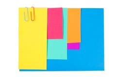 έγγραφο χρώματος συνδετή& στοκ φωτογραφίες με δικαίωμα ελεύθερης χρήσης