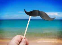 Έγγραφο mustache για ένα stisk στοκ εικόνα με δικαίωμα ελεύθερης χρήσης