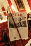 Έγγραφο Sacher ξενοδοχείων στο εσωτερικό ξενοδοχείων Στοκ Εικόνες