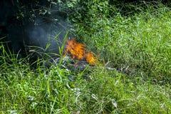 έγκαυμα πυρκαγιάς έξω στοκ φωτογραφία με δικαίωμα ελεύθερης χρήσης