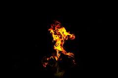 Έγκαυμα πυρκαγιάς με τον καθρέφτη στο σκοτεινό υπόβαθρο Στοκ Εικόνα