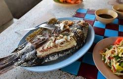 Έγκαυμα ψαριών σχαρών στοκ φωτογραφία