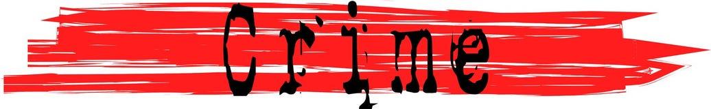 Έγκλημα στις κόκκινες αιματηρές γραμμές - διάνυσμα ελεύθερη απεικόνιση δικαιώματος