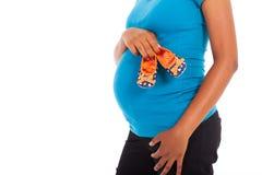 Έγκυα παπούτσια μωρών Στοκ Εικόνες