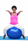 έγκυος γυναίκα άσκησης &sig Στοκ Εικόνες