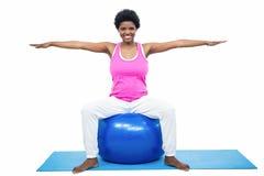 έγκυος γυναίκα άσκησης &sig Στοκ εικόνα με δικαίωμα ελεύθερης χρήσης
