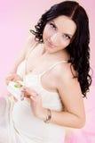 έγκυος γυναίκα κέικ Στοκ εικόνα με δικαίωμα ελεύθερης χρήσης
